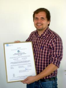 Paul Lohnecker mit ISO Zertifikat